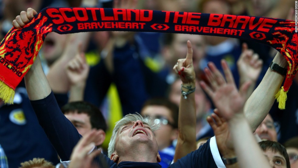 Scottish fans filled Wembley for the clash with the 'Auld Enemy' England and had goals to cheer about in a pulsating match, but in the end losing 3-2.