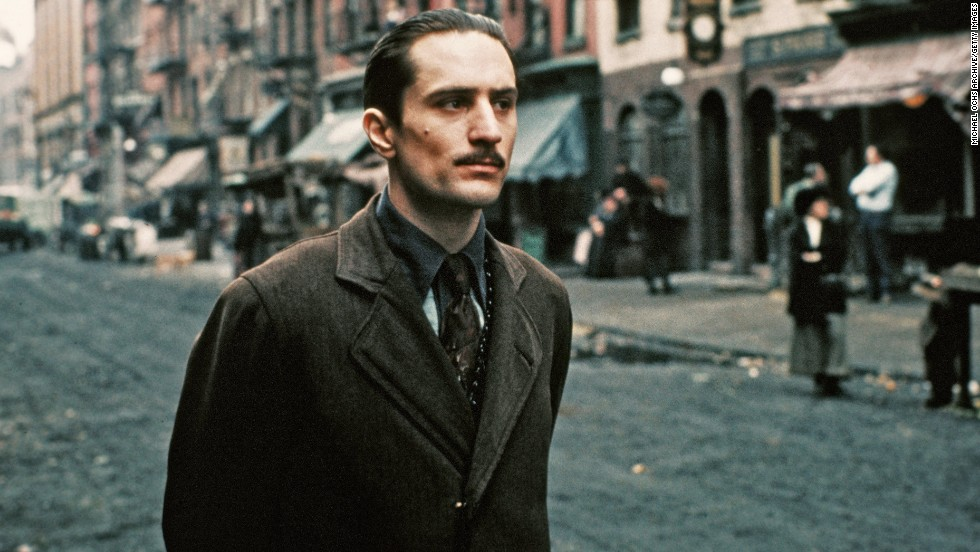 "De Niro performs a scene in ""The Godfather Part II"" in 1974 in New York. The actor won his first Oscar, for best supporting actor, for his performance as the young Vito Corleone."