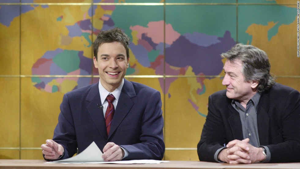 "De Niro has showed his lighter side on occasion. In 2000 he appeared on ""Saturday Night Live's"" ""Weekend Update"" segment with Jimmy Fallon."