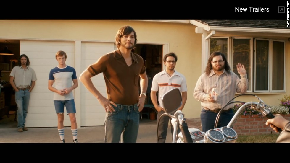 "Early visitors to Apple's ""offices"" were taken aback to find a band of scruffy young engineers working out of Jobs' parents' suburban house. In this scene Jobs, Wozniak and crew greet Rod Holt, their new electrical engineer."