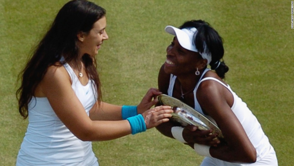 But it was Wimbledon where Bartoli made her name, losing in the 2007 final against Venus Williams (right) on the hallowed grass courts of the All-England Club.