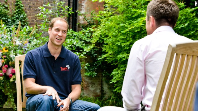 Prince William tells CNN's Max about life as a new father and about his conservation work in Africa.