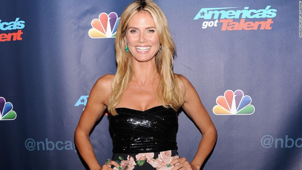 Heidi Klum smiles wide at 'America's Got Talent' Post Show Red Carpet on August 14 in New York City.
