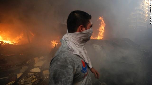 Huge explosion rocks southern Beirut
