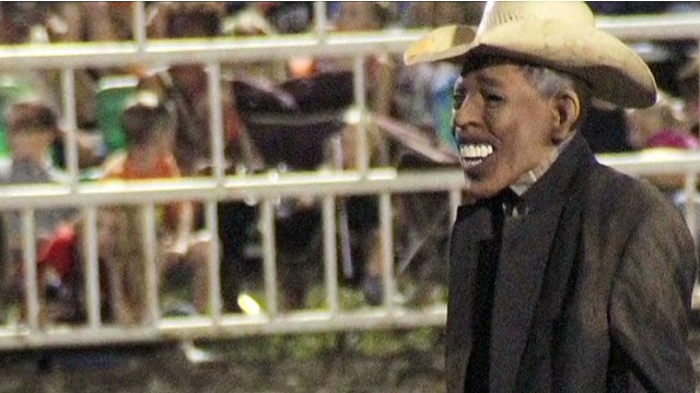 Rodeo clown's act starts political fight