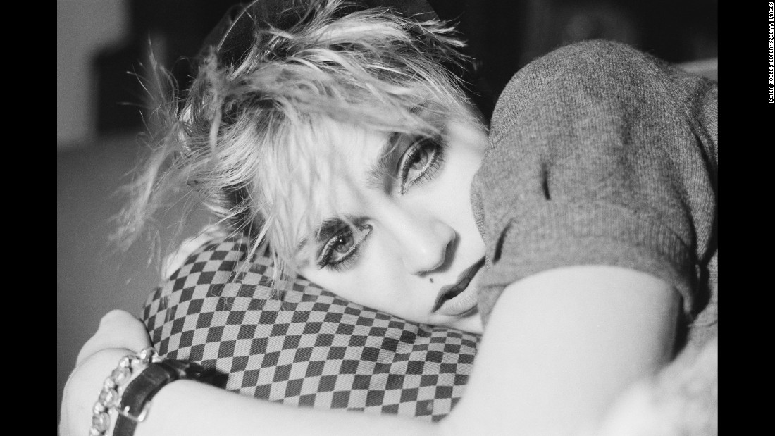 Madonna poses for a photo as she was emerging on the music scene in New York in December 1982.