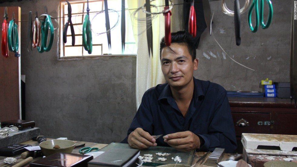 Long Taiyang is the 12th generation of his family to work as a silversmith.