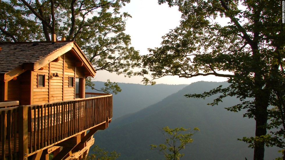 "Take your perch nearly 2,700 feet above the Dan River in a luxurious <a href=""http://www.primland.com"" target=""_blank"">Primland</a> tree house, where the natural wonders of the Blue Ridge Mountains meld with high-end creature comforts, such as a soaking tub and 400-thread count Frette sheets. At the main lodge, the resort's observatory dome houses a massive telescope that takes stargazing to a new level. Other activities include golf, fishing, sporting clay shooting, ATV tours and sustainable wild game hunting. Tree house rates start at $550 a night."