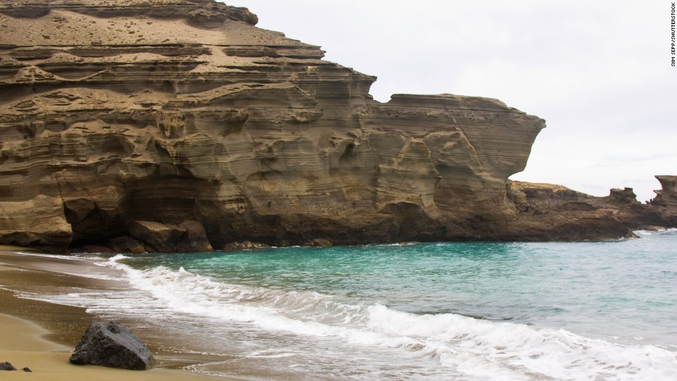 Hawaii's Big Island is home to one of the world's few green sand beaches.