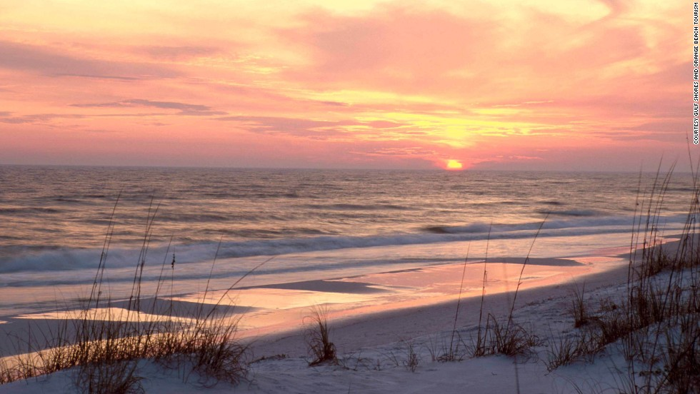 This Gulf Coast beach is about an hour's drive from Mobile, Alabama.
