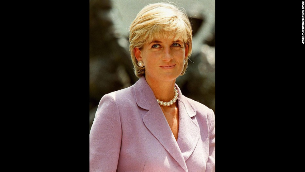 Diana is seen at the American Red Cross headquarters in Washington on June 17, 1997. Diana was passionately involved in the British Red Cross Landmine Campaign.