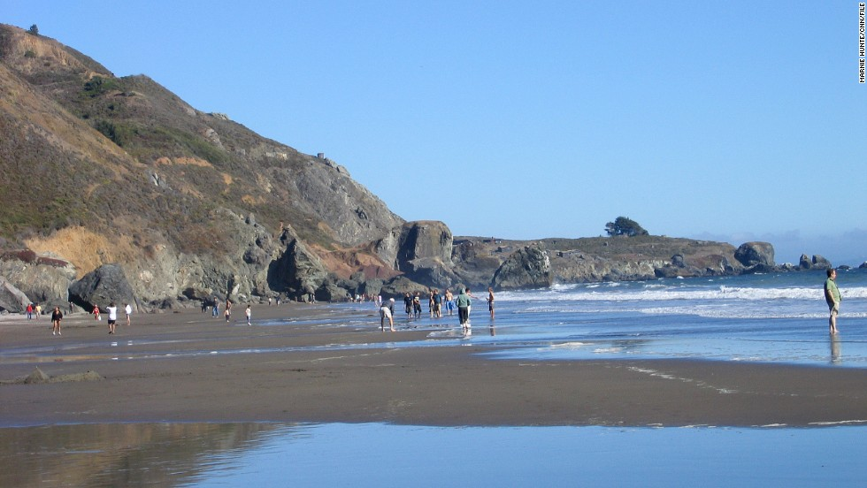 Located in Marin County, the area near Stinson Beach includes Bolinas Lagoon Preserve and Muir Woods.