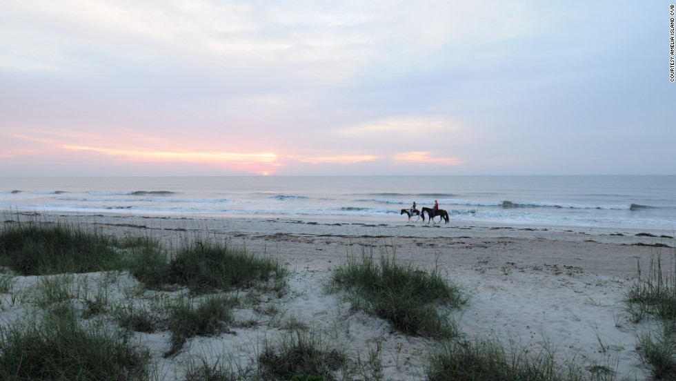 Less than an hour north of Jacksonville, Amelia Island boasts 13 miles of beaches.