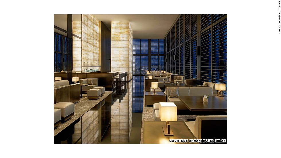 With its skyline view and elegant onyx interior, Armani's modern Bamboo Bar took the top honors in the Best Bar category.