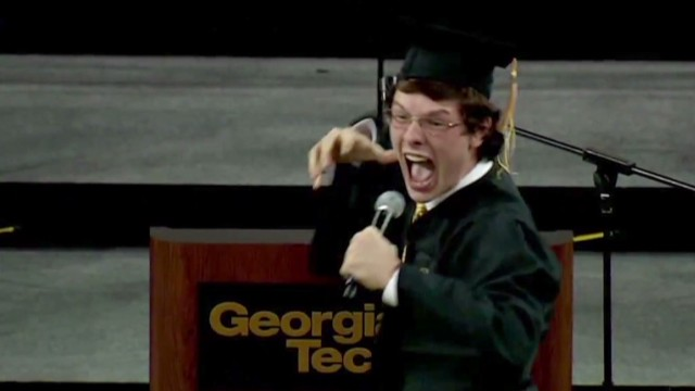 Student's epic speech stuns new freshmen