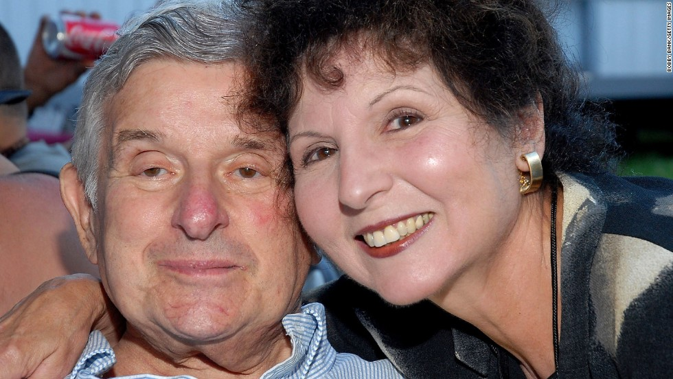 Bernstein and Carol Ross pose backstage at the Seaside Summer Concert Series in Brooklyn on July 12, 2007.