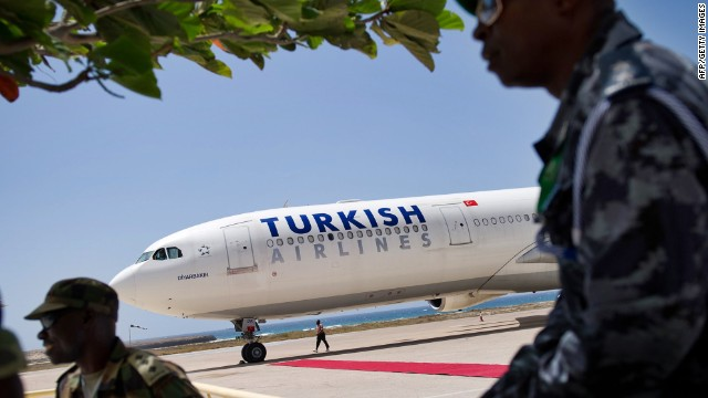 Despite being classified as a hostile destination, many carriers, like Turkish Airlines, are flying to Somalia's capital, Mogadishu.