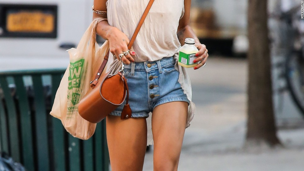 Zoe Kravitz stays cool in shorts and a tank while in New York City on August 20.