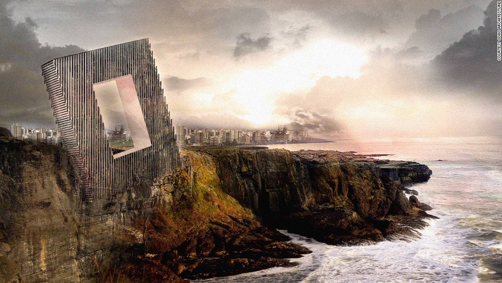 The latest design by Spanish architecture firm OOIIO resembles a massive photo frame.