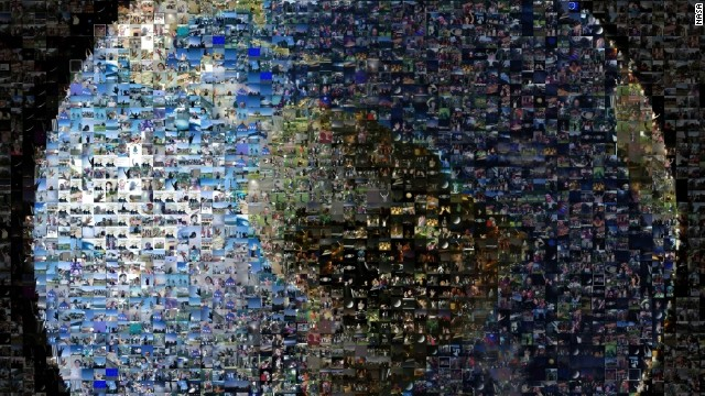 NASA assembled more than 1,400 images, submitted from 40 countries, to create this mosaic of Earth.