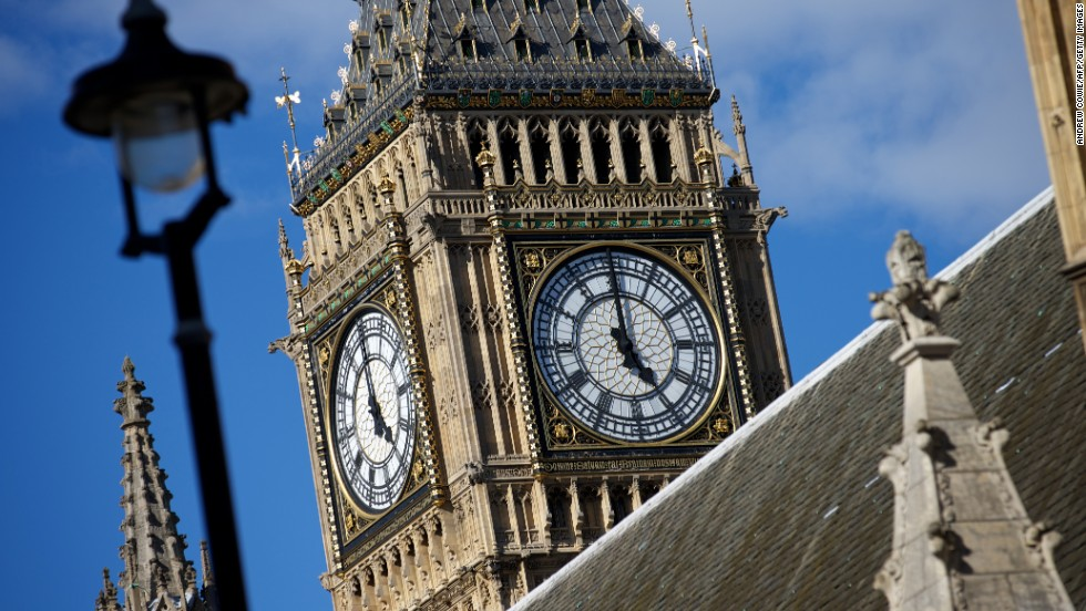 "<strong>Big Ben, The Elizabeth Tower, Palace of Westminster, London</strong><br /><strong>Completed: </strong>1859<strong><br />Height: </strong>96 meters (315 feet)<strong><br />Special tour</strong><br />Tour is <a href=""http://www.parliament.uk/visiting/visiting-and-tours/tours-of-parliament/bigben/"" target=""_blank"">only available to UK residents</a> who have arranged it through their local MP or a Member of the House of Lords. <br /><strong>Special feature</strong><br />The four clock dials each feature a Latin inscription that translates to ""O Lord, save our Queen Victoria the First."" <em><br />More facts on the next slide.</em>"