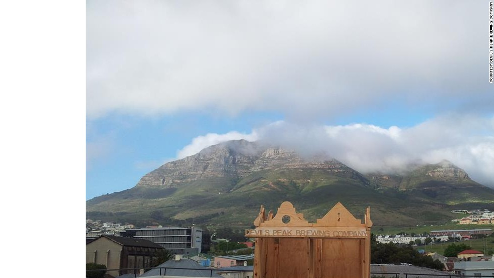 The brewery is named after Devil's Peak mountain, which looms over Cape Town.