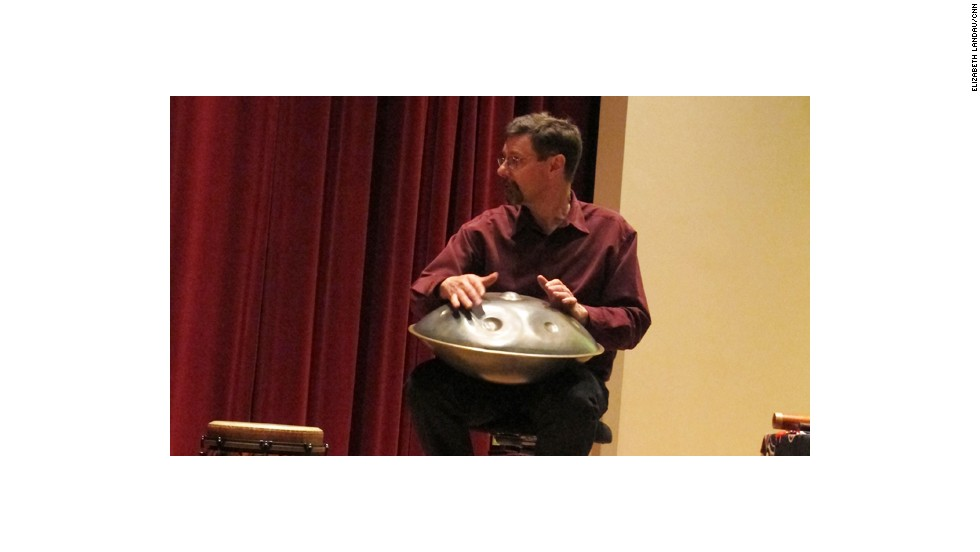 Clint Goss performed a variety of world instruments at the conference. He collaborates with Eric Miller in studying the physiological effects of Native American flute playing. They are in a musical group called SpiritGrass.