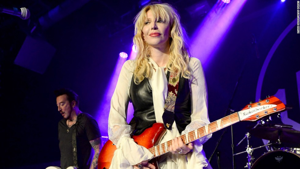 Courtney Love jams in Las Vegas at the Hard Rock Hotel & Casino on August 22.