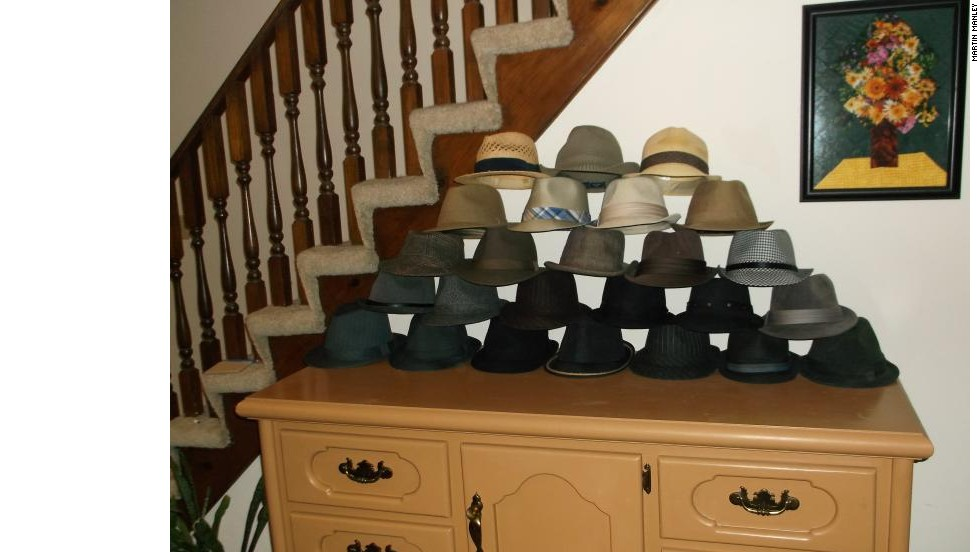 """At first, I just owned a couple of Fedoras, but then I bought a couple more. And, then I guess I got infected by the female shopping gene because, despite being extremely cheap, I got up to about a dozen hats,"" he wrote on the site. ""I finally stopped at 25 when I realized I wasn't going to be around in another 14 months. Besides, I had just about covered all the colors."""