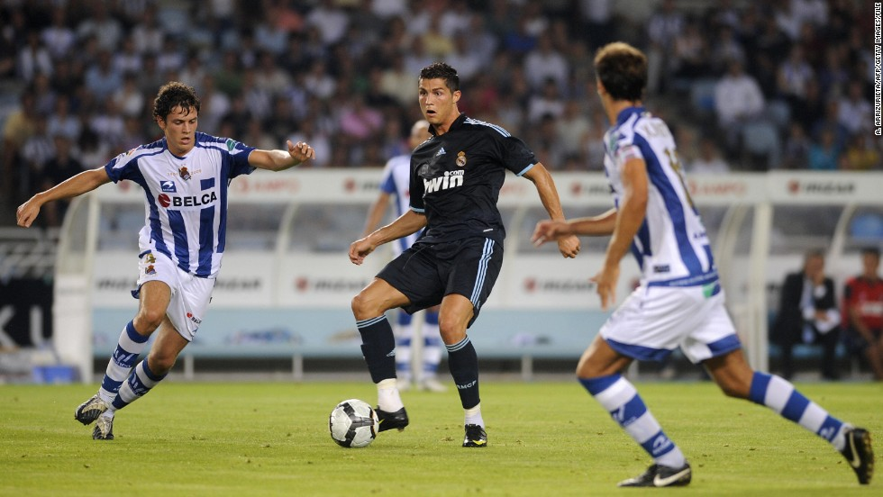 Just three weeks later, Real once again set a new benchmark for a football transfer fee. Cristiano Ronaldo joined Real from Manchester United on June 26, 2009 for a reported fee of $120 million. Ronaldo has been the poster boy of Perez's second spell as president.