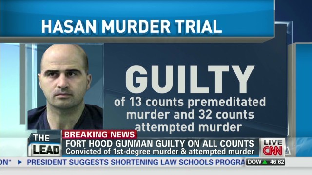 Fort Hood gunman guilty on all counts