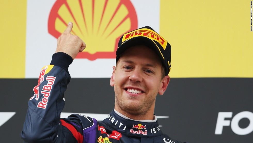 Vettel celebrated his fifth victory this season, which extended his world championship lead to 46 points just past the halfway stage of this season.