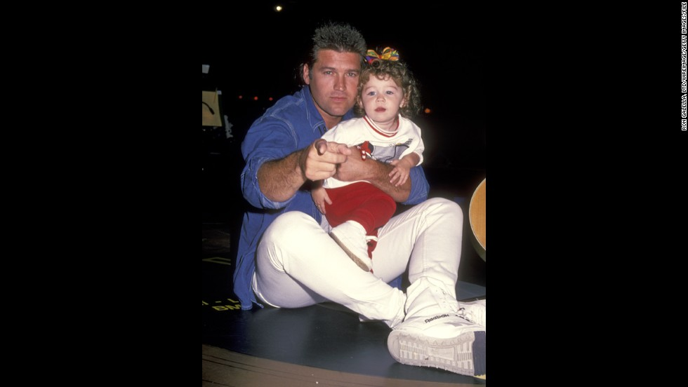 The future pop star with her father, Billy Ray Cyrus, in October 1994 in Memphis, Tennessee.