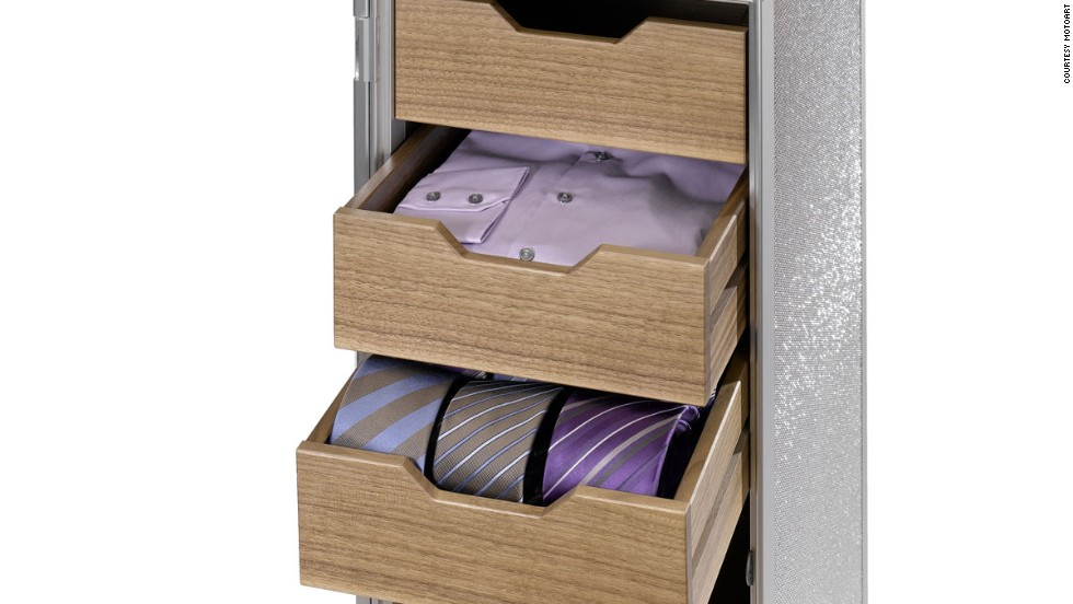 Skypak, a German company that specializes in selling refurbished trolleys, has a clever storage idea: use trolleys to store ties and shirts. You can purchase customizations such as shelves and drawers with the trolleys at the Skypak store. More innovative conversions include DVD racks, coffee bars and shoe cabinets. Skypak trolleys start at €1,380 ($1,833).