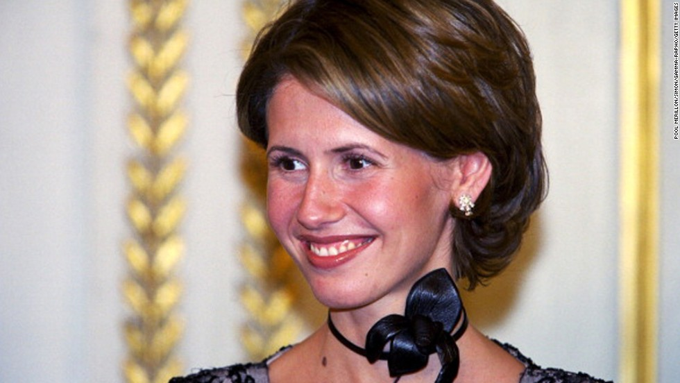 First lady of Syria Asma al-Assad attends an official dinner at Elysee Palace in - 130828093417-01-asma-al-assad-horizontal-large-gallery