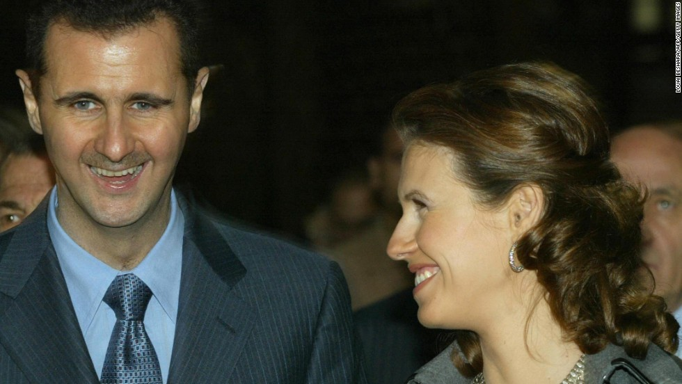 Asma al-Assad and husband tour the Old City in Damascus with Turkish Prime Minister Recep Tayyip Erdogan and his wife Amina on December 22, 2004.