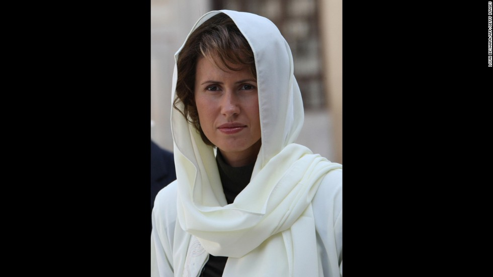The first lady visits the Omayyad Mosque in Damascus, on October, 21, 2008.
