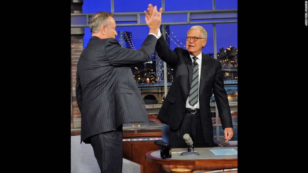 "Before Bill O'Reilly and David Letterman found a reason to high-five one another in 2011, they'd had a war of words while taping ""Late Show"" in 2006. The conversation was about the Iraq War, and the debate became so agitated that the light-hearted comments turned into terse insults."