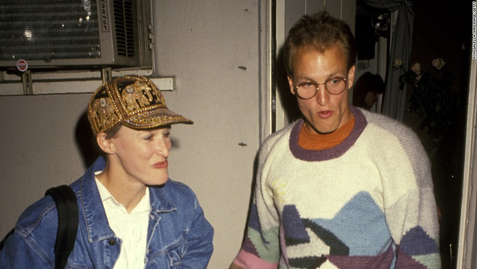 "Glenn Close and Woody Harrelson <a href=""http://www.people.com/people/article/0,,20115633,00.html"" target=""_blank"">are said to have become romantic partners for a spell in 1991</a>, when they performed in the play ""Brooklyn Laundry"" together."