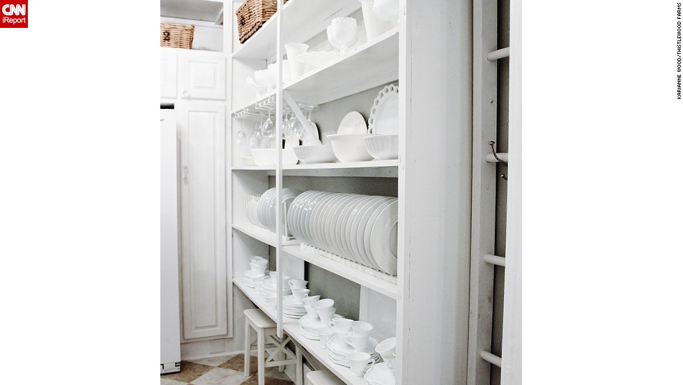 """<a href=""""http://ireport.cnn.com/docs/DOC-1028123"""">KariAnne Wood'</a>s butler's pantry shows off the beauty of everyday dishes."""