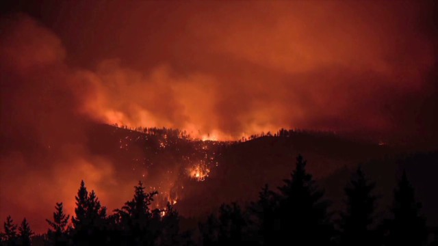 California Rim Fire time lapse
