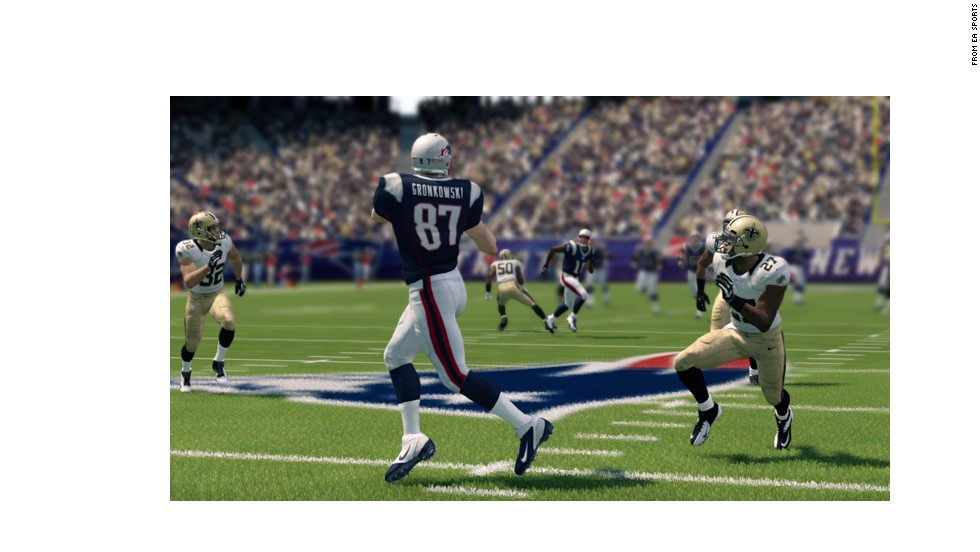"""Gronk alert! Although some believe he's been surpassed on the field by the Saints' Jimmy Graham, """"Madden"""" ranks the Patriots' hulking <strong>Rob Gronkowski</strong> as the game's top tight end."""