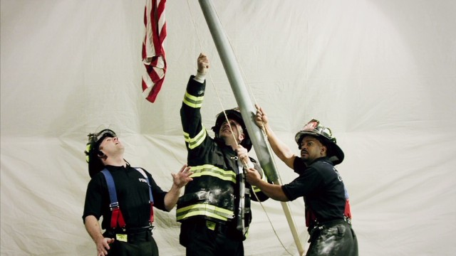 Recreating the flag raising