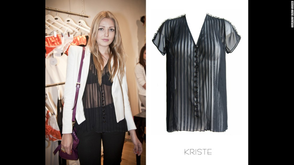 The sheer shirt over bra is tried and tested without being too risque, especially if combined with a jacket, says Soonik, a designer based in London.