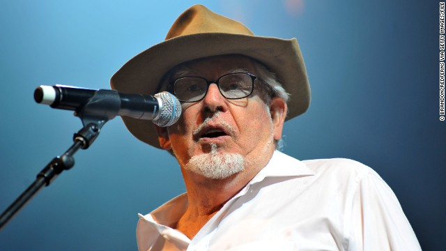 Rolf Harris performs on stage during the final day of the Womad Festival on July 25, 2010 in Wiltshire, England.