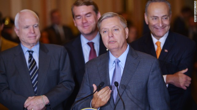 Conservative tea party activists have made Sen. Lindsey Graham a target in part because of his working with Democrats on issues like immigration reform.