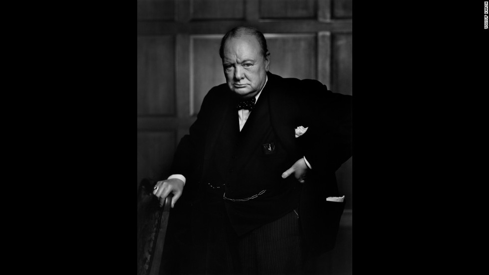 "Yousuf Karsh's 1941 portrait of a scowling Winston Churchill -- reportedly reacting to Karsh snatching Churchill's cigar -- graced the cover of Life magazine and cemented the British prime minister's reputation as a ""roaring lion."" ""By the time I got back to my camera, he looked so belligerent he could have devoured me,"" Karsh recalled. ""It was at that instant that I took the photograph."" <a href=""http://money.cnn.com/2013/04/26/news/economy/churchill-five-pounds/index.html"">The Bank of England announced</a> in 2013 that the famous portrait would be featured on the £5 note."