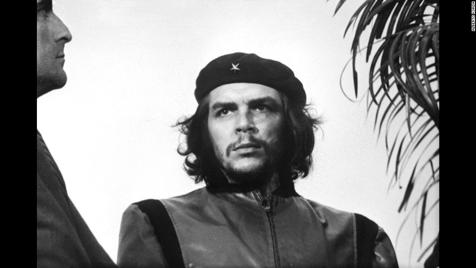 "Alberto Korda photographed Marxist revolutionary Che Guevara in 1960 at a memorial service for victims of the La Coubre explosion in Havana, Cuba. The portrait, titled ""Guerrillero Heroico,"" has been widely reproduced through the decades, evolving into a global symbol of rebellion and social justice. As a supporter of Guevara's ideals, Korda never sought royalties for the distribution of his image."