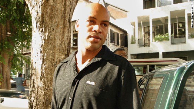 Dino Bouterse, shown here in 2003, faces weapons and drug trafficking conspiracy charges and could face life in prison..
