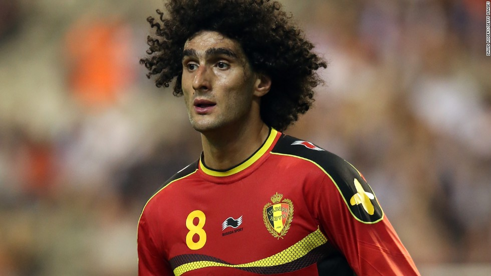 MIdfielder Marouane Fellaini played for Standard Liege before joining Everton. He left Goodison Park in August to join Manchester United, where he linked up again with former Everton manager David Moyes.